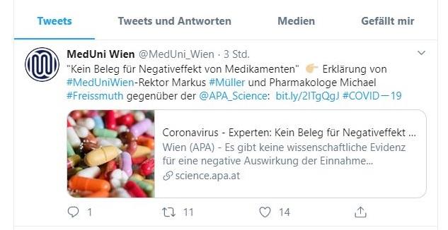 Uni Wien Ibuprofen